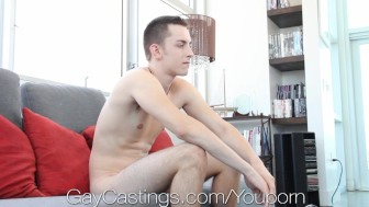 GayCastings Young Kane learns the hard way how to fuck on camera