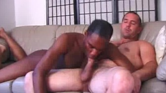 Hot Gay Interracial Cock Sucking On The Couch