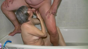 Horny grannies love hard cocks from young guys in the house