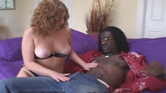 Little Mrs. Redhead Fucks Big Black Cock
