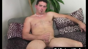 Hot Brunette Straight Guy Tyler Masturbating