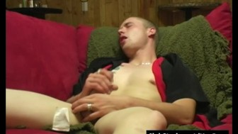 Blonde Straight TJ Masturbating His Large Penis