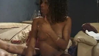 Ebony Honey Fucked And Gets A Mouthful Of Cum