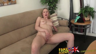 FakeAgentUK Midget cons hot blonde into doing hardcore porn casting