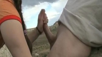 Blowjob In The Mountains
