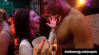 Gorgeous nympho gets fucked in a club