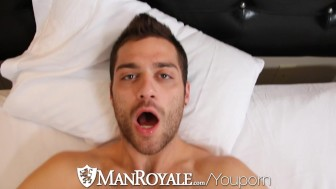 HD - ManRoyale Guy wakes up with bf's mouth on his dick