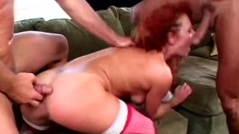 Red-Head Sucks Two Cocks At Once - Acid Rain