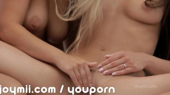 Young lesbian lust brings hot orgasms