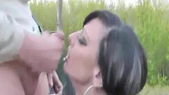Crazy amateur slut loves fisting in public