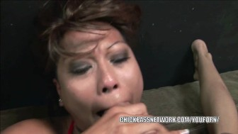 Filipina honey Max Mikita gets her face loaded with cum