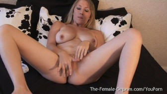 MILF with Big Pussy Lips and Sopping Wet Orgasm Contractions