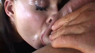 Brunette Swallows A Big-Cock - Pearl Productions