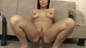 Big anal dildo fucking