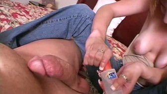 Handjob from slutty amateur wife 4