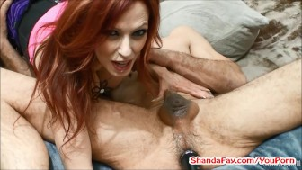 Hot MILF Shanda Pegs Man In The Ass With HUGE Vibrator!