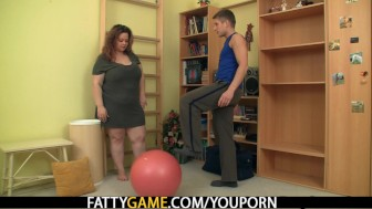 Big booty faty fucks fitness instructor