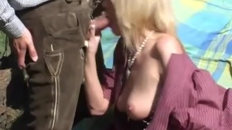 german MILF loves anal in the mountains