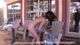 shirtless beer bongs and hot tub masturbating girl with perfect its