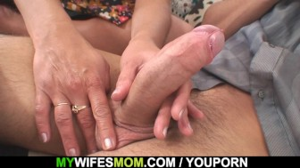 Cock hungry mom in law seduces and rides him