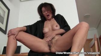 Watching porn ignites grandma's lust
