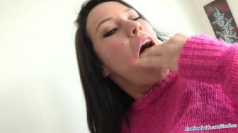 Megan Rain blows and swallows 5 loads