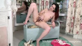 Tiffany Naylor masturbates after sexy striptease