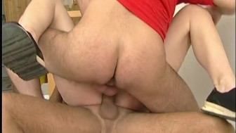 Her First Double Anal Fuck