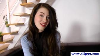 Casted polish schoolgirl amateur loves to gag