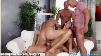 MileHigh 1 Chick Gangbanged by 4 Dicks