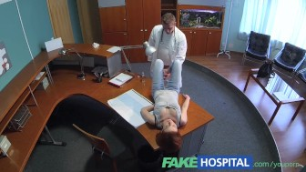 FakeHospital Petite redheads sexual skills makes doctor cum twice