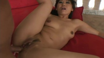 Asian Babe Get's Fucked On A Red Chair - DNA