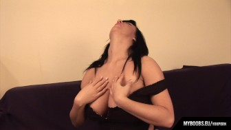 Busty Babe Kora Kryk Masturbates