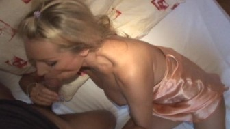 Hot European woman gets her pussy filled up with sperm