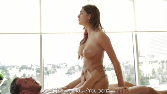 August Ames swallows cock and grinds on dick compilation – Passion-HD