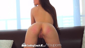 Amateur brunette Zoe Wood fucked on casting couch - CastingCouch-X