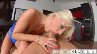 Ass Traffic rough anal sex for sexy blonde Jessie Volt