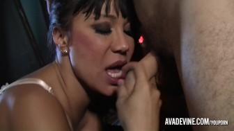 Ava Devine is surprised by burglar