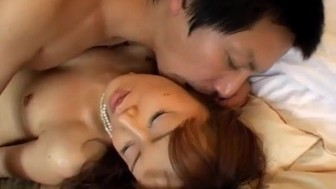 Mai Satsuki in elegant dress has cunt licked, fingered and fucked