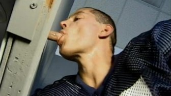 Football Hunks Glory Hole Blowjobs