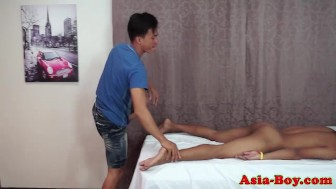 Asian cocksucking twink sucking and tugging