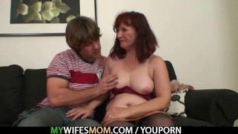 Redhead mom is fucked by her son in law
