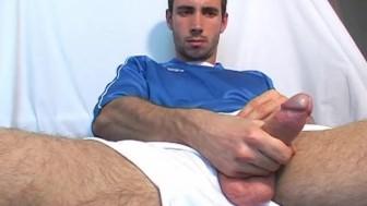 Soccer guy, big cock !