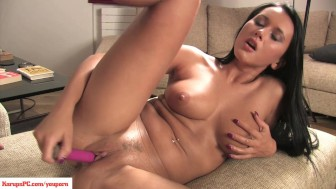 Angelica Black Toy Masturbation