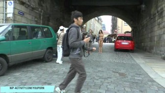 Crazy babe victoria sweet naked on public streets