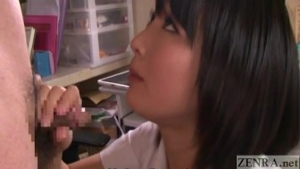 Japanese gokkun cum play with Kana Ohori English Subtitles