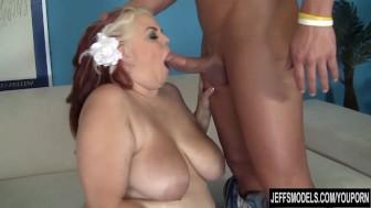 Pretty plumper Buxom Bella takes a fat cock