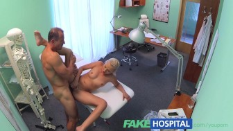 FakeHospital Petite euro chicks backache cured by having hot sex with doctor