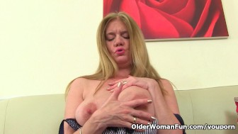 British milf Lily fucks herself with a dildoma