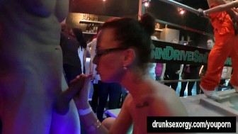 Slutty pornstars gets nailed at a sex party